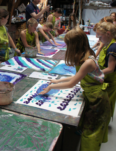 kids painting party, atelier molenpad, amsterdam birthday party events